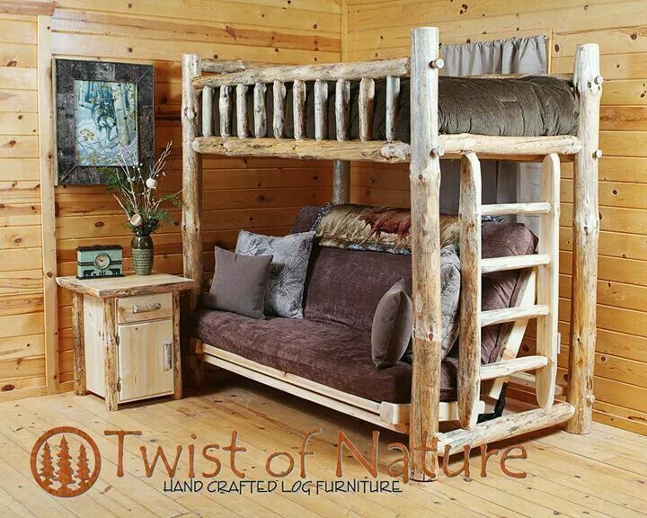 Log bunk beds Futon bunk bed, Bunk beds, Bunk beds for sale