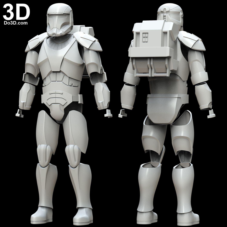 3D Printable Model: Republic Commando Star Wars Armor