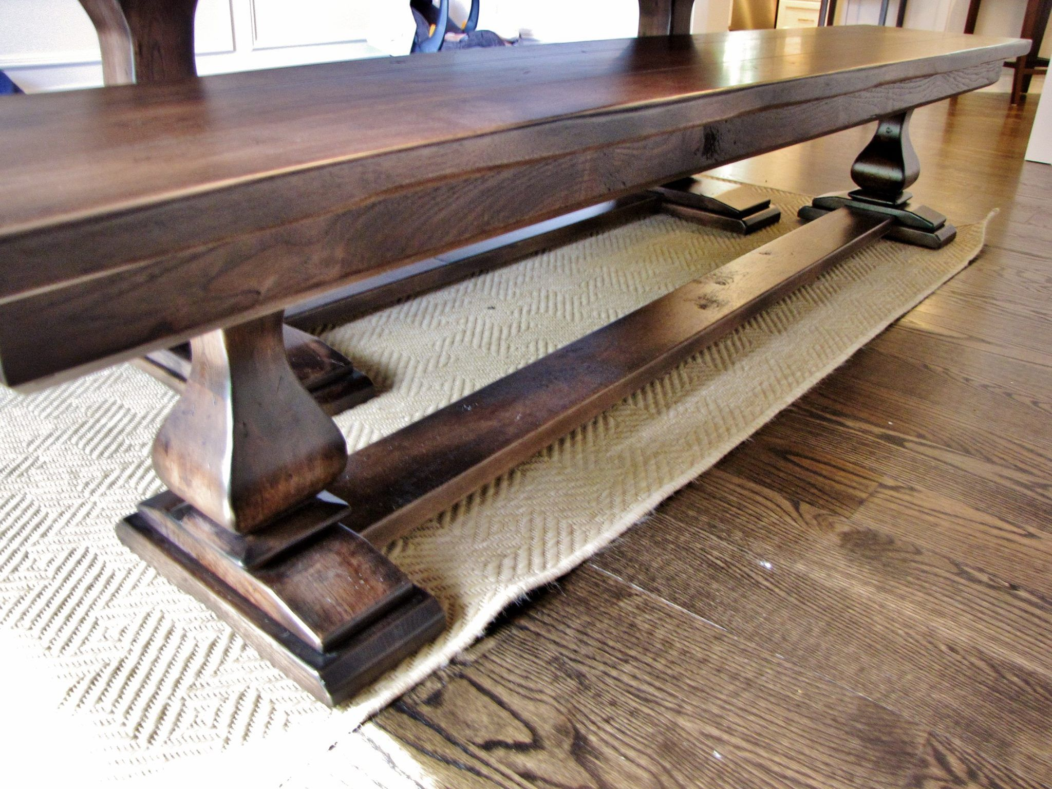Belly Pedestal Bench With A Cross Brace Custom Benches Wood Bench Furniture