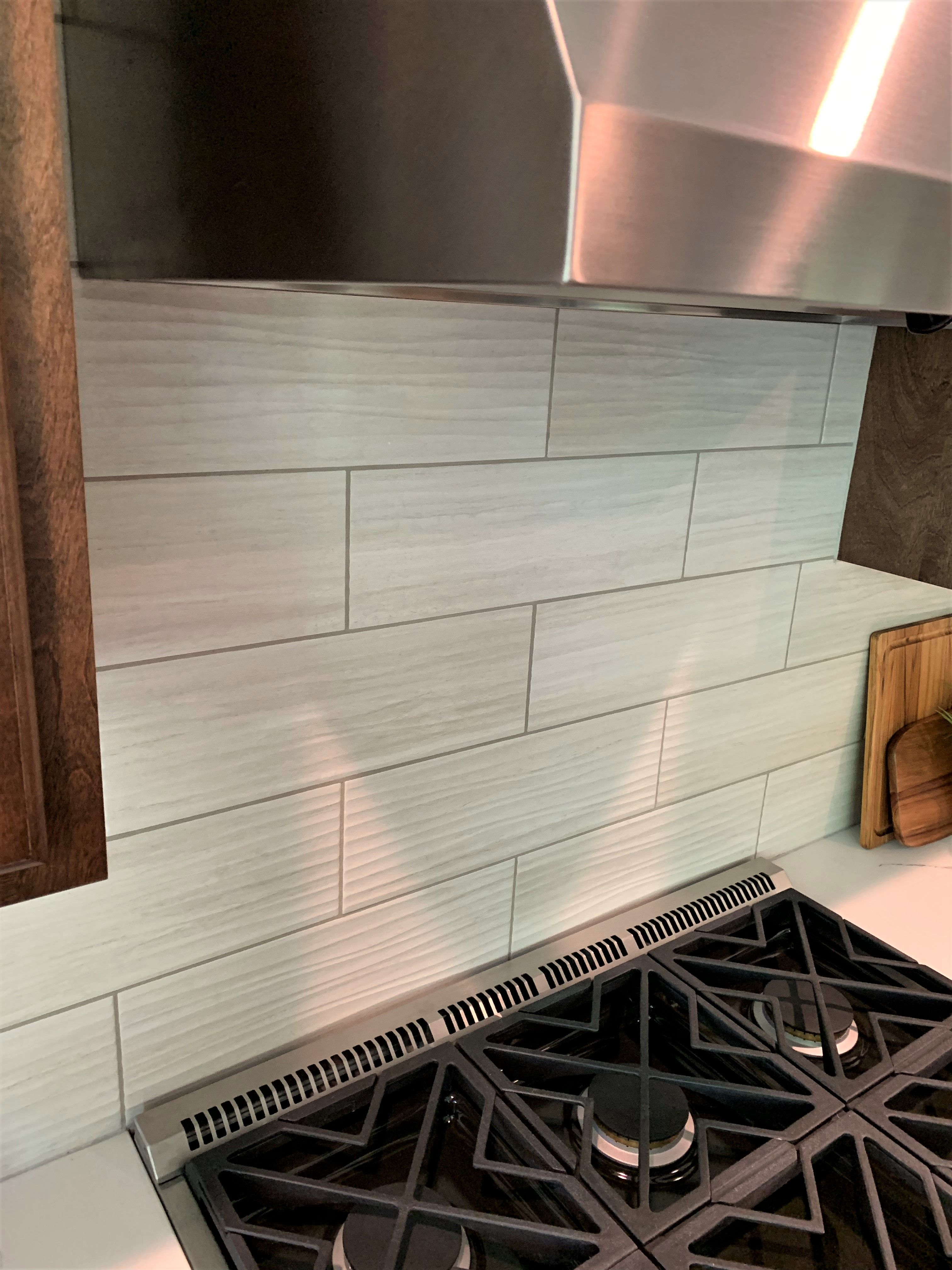 This 6 X18 Daltile Kitchen Backspash Tile Has A Wavy Texture That Adds A Ton Of Character Custom Kitchen Backsplash Kitchen Tiles Backsplash Flooring Store