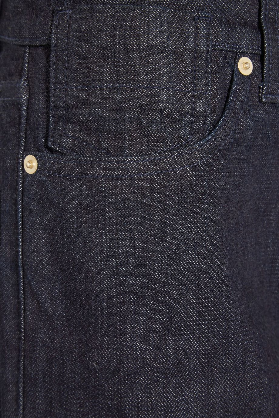 MidnightBlue Denim Button And Concealed Zip Fastening At Front