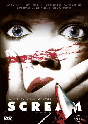 Scream (1996) | Director: Wes Craven | Taglines: 1) Someone's Taken Their Love Of Scary Movies One Step Too Far! 2) Make Your Last Breath Count. | Film Score: Marco Beltrami | Cast: Drew Barrymore {Casey}, Roger Jackson {Phone Voice}, Neve Campbell {Sidney}, Courtney Cox {Gale Weathers}, Rose McGowan {Tatum}, Skeet Ulrich {Billy}, Matthew Lillard {Stuart}, David Arquette {Dewey}, Jamie Kennedy {Randy}, Liev Schreiber, Frances Lee McCain, Henry Winkler, Linda Blair, Kevin Patrick Walls…