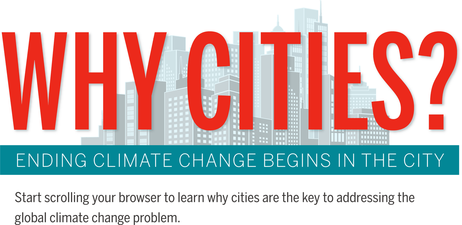 Amazing infographic on cities and ending climate change; lots of pages and many moving parts