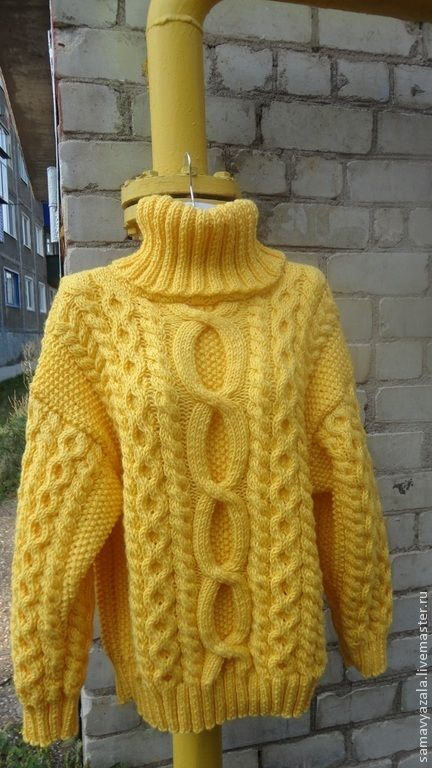 купить вязаный толстый свитер Sol жёлтый свитер свитер женский
