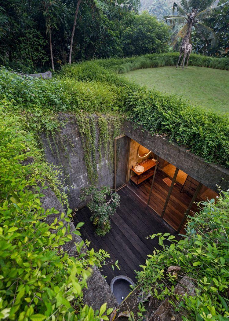 """Asiatischer Wohnstil: die """"Chamäleon"""" Villa in Indonesien promoviert naturnahes Leben #house"""