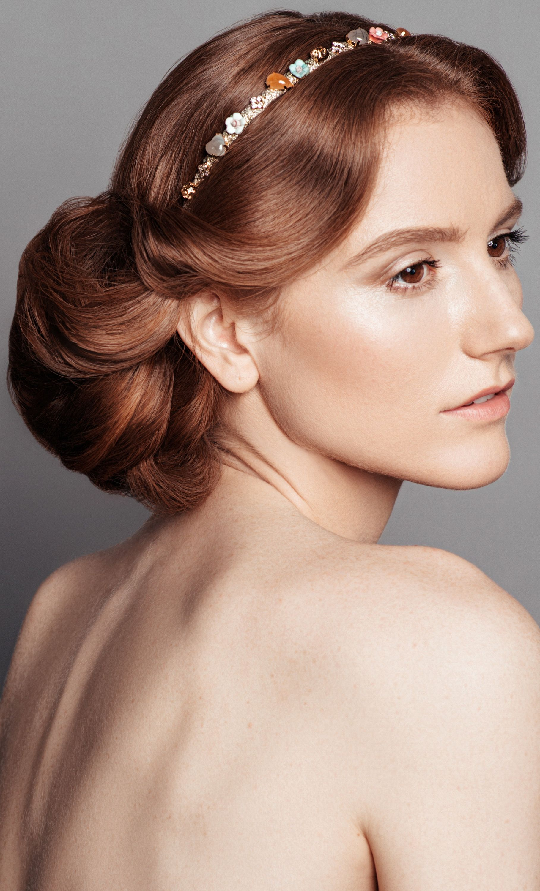 Impeccably executed updo by Online Makeup Academy for