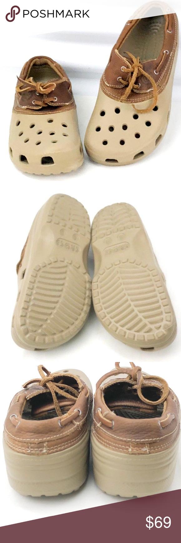 20c71fafb09236 I just added this listing on Poshmark  CROCS Tan Islander Pitcrew Sport Boat  Shoes.  shopmycloset  poshmark  fashion  shopping  style  forsale  crocs   Shoes