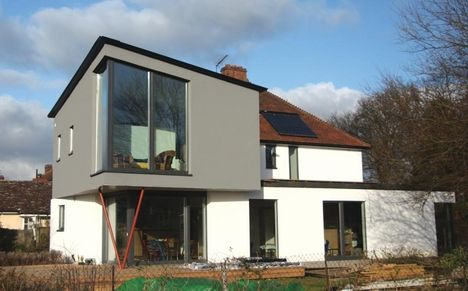The new first and second floor extension which uses swistherm external cork wall insulation - Cork insulation home ...