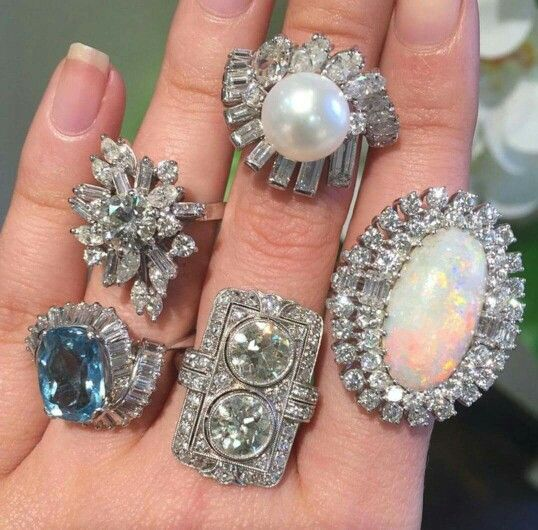 A mix of new rings made to look vintage
