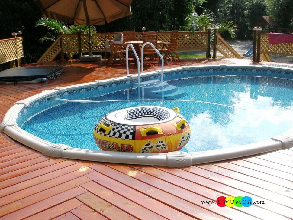 Swimming Pool:Swimming Pool Deck Ideas Inground Swimming Pool & Deck ...