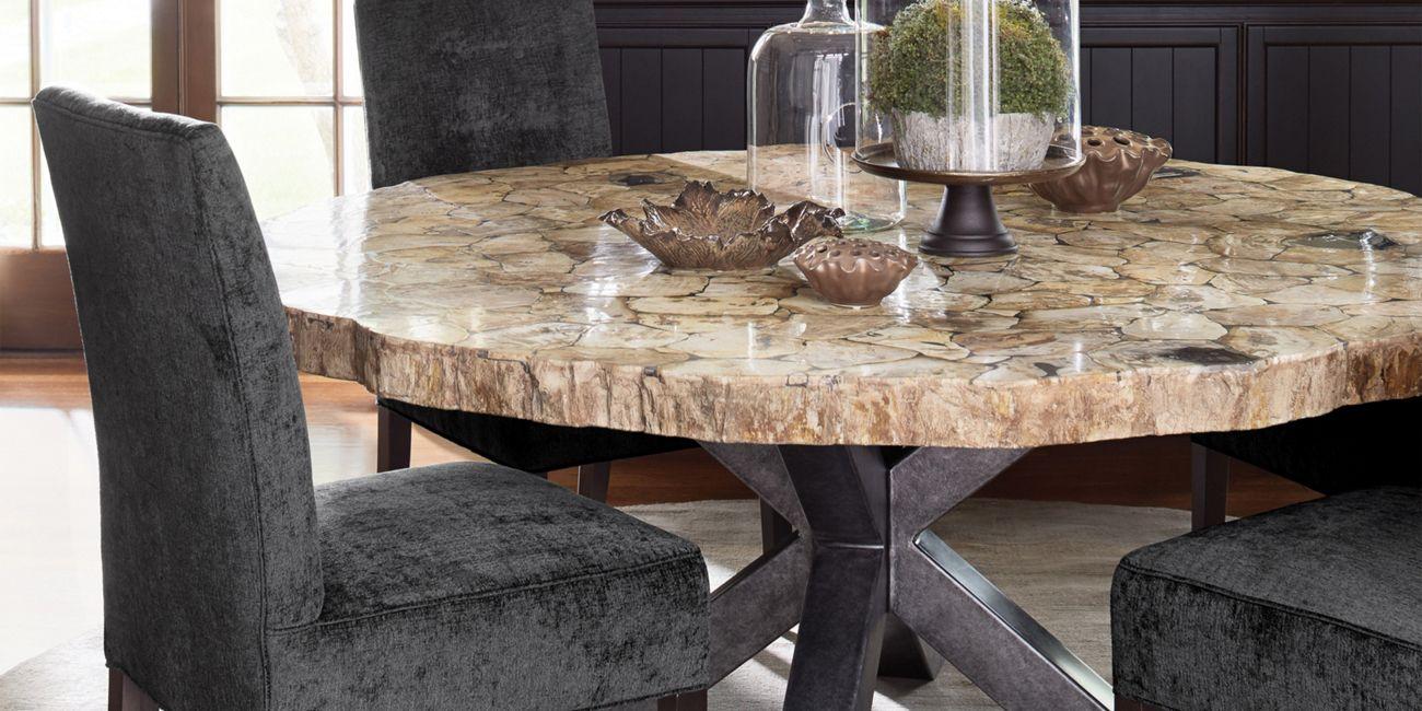 Petra Round Dining Table Arhaus Furniture Wood Dining Room Table Round Dining Table Dining Table