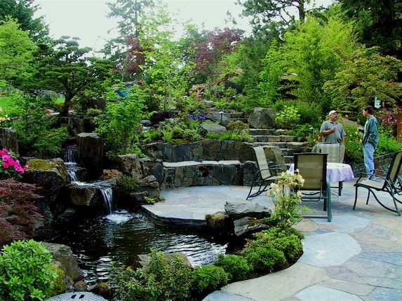 Landscape Design In The Nw Landscape Design And Construction Based In Eugene Oregon Luxury Landscaping Landscape Design Outdoor Ponds