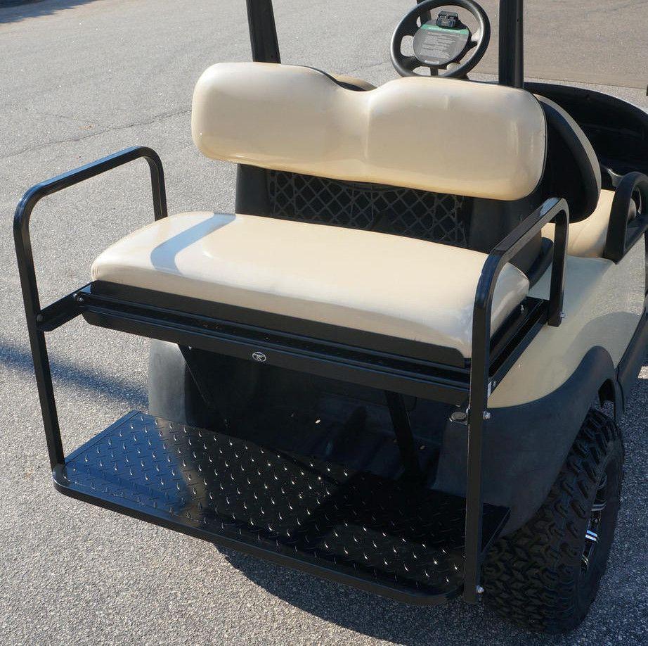 Rear Flip Seat for Club Car Precedent Golf Cart - Buff Seat Cushions ...