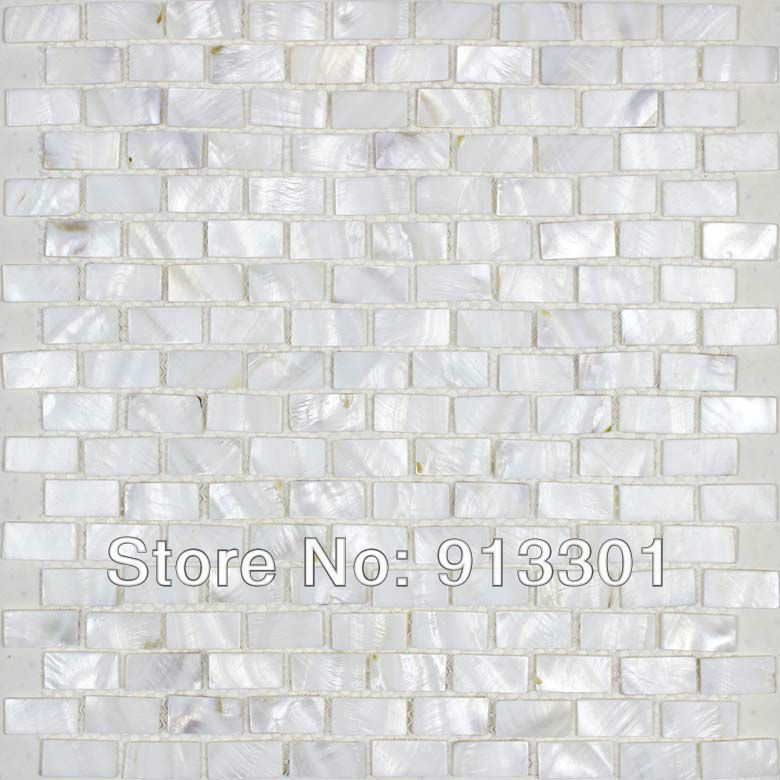Free Shipping Shell Mosaic Tile Sheets Natural Seashell Mosaic
