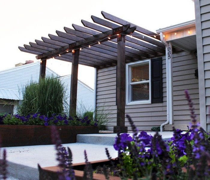 Cool Vinyl Pergola: The Longer Lasting Beauty: Enchanting Entry Pergola  Modern Exterior Design And Classic Vynil Pergola Made From Dark Brow.