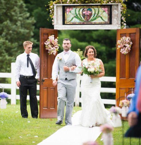 Outdoor Wedding Doors  sc 1 st  Pinterest & Pin by Glenn Dunlap on outdoor wedding doors | Pinterest | Outdoor ...