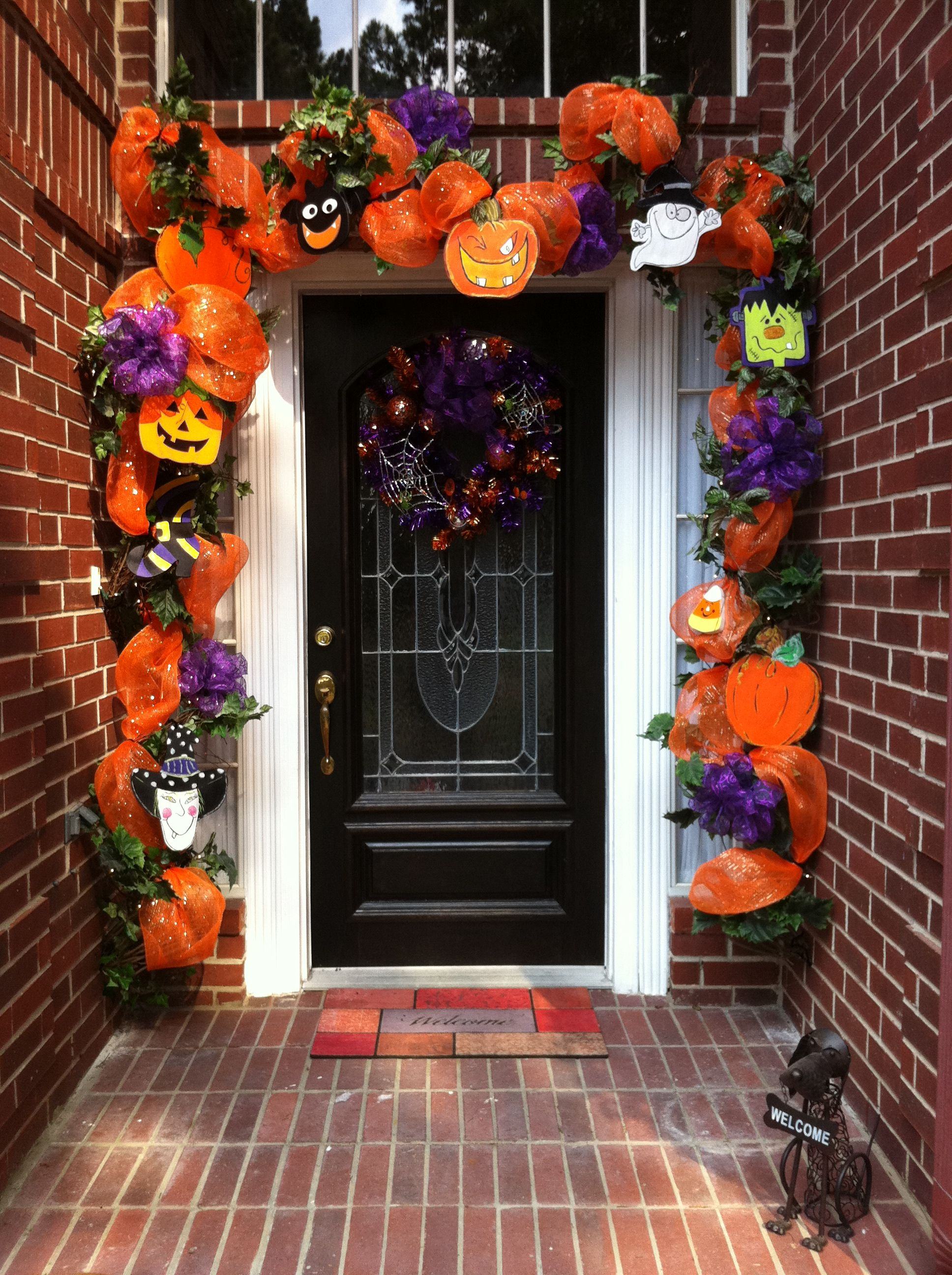my halloween front door - Halloween Front Doors
