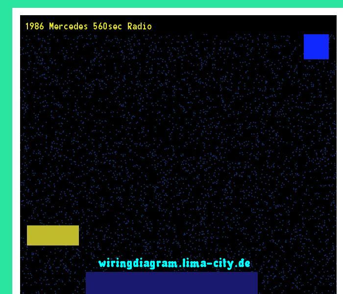 1986 Mercedes 560sec Radio  Wiring Diagram 175435