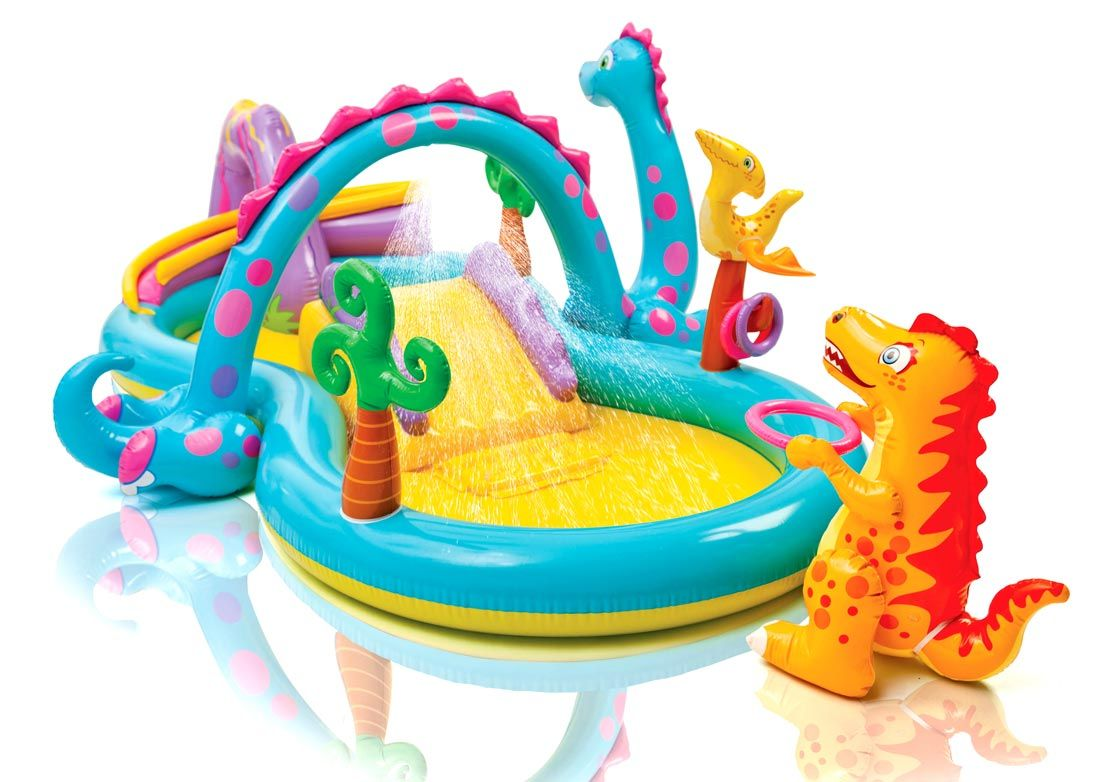 Piscina Gonfiabile Bambini Intex 57135 Dinoland Play Center Gioco