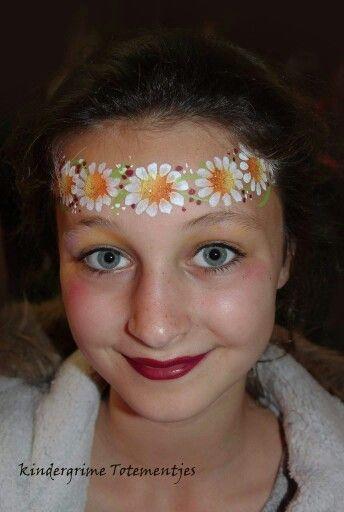 Flower Crown Face Painting. | Happy Color Faces kids ...
