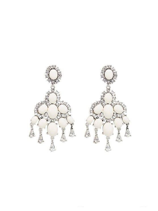 Cabochon Chandelier Earrings
