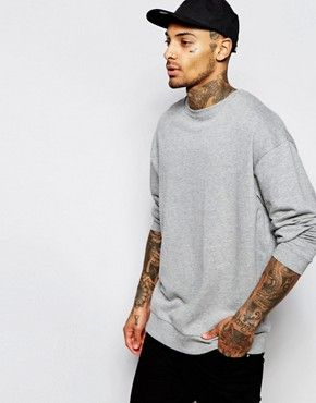 Buy Gray Asos Hooded sweatshirt for men at best price. Compare Sweatshirts  prices from online stores like Asos - Wossel Global