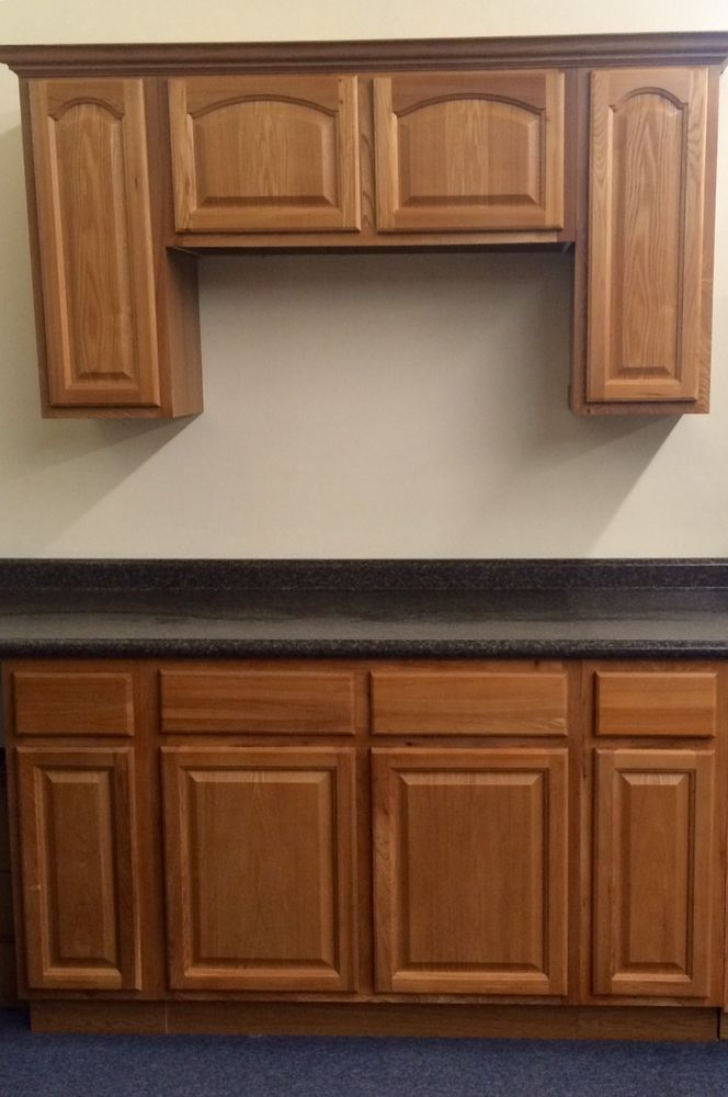 Country Oak Kitchen Cabinets Starter Set All Wood Affordable