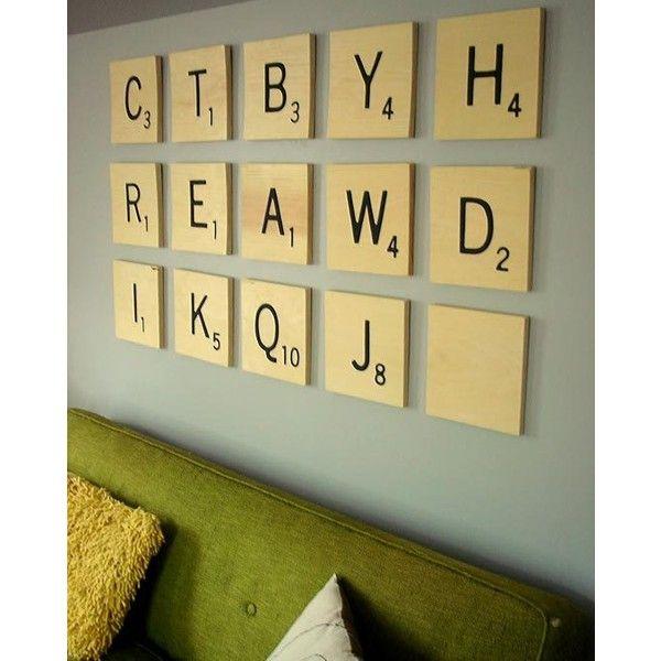 How to Make Jen\'s DIY Oversized Scrabble Tile Art | Apartment ...
