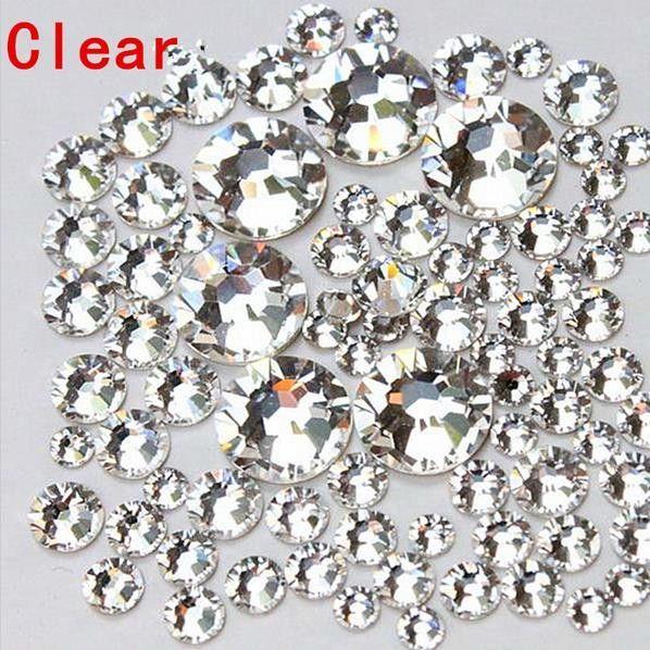 Mix Sizes 1000PCS Pack Crystal Clear AB Non Hotfix Flatback Rhinestones  Nail Rhinestones For Nails 3f8e93de35cc