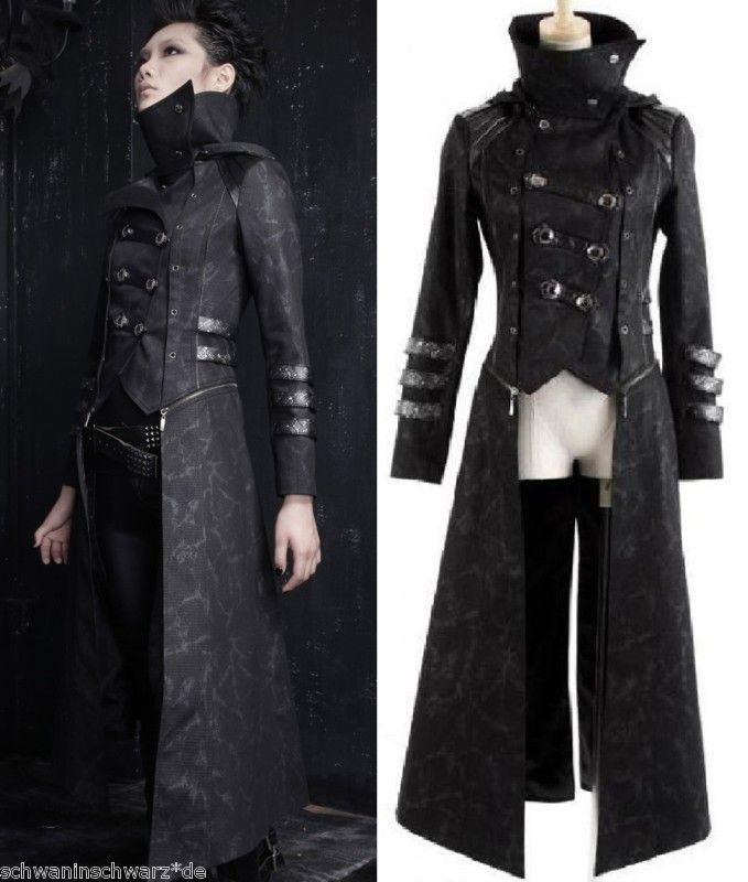 Jacke Mantel Kapuze Visual Kei Punk Rave Rock Gothic Jacket lang kurz neu Top | eBay