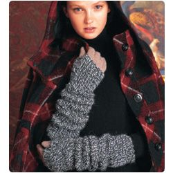 Ribbed Wristers  Free pattern from Vogue