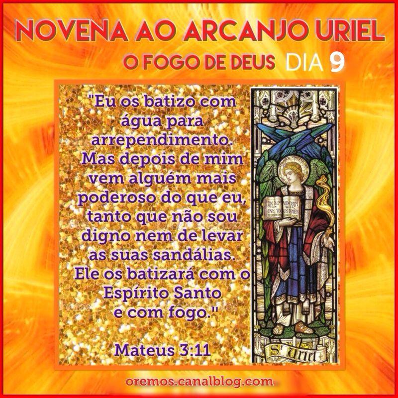 Dia 9 Novena Ao Arcanjo Sao Uriel Acao De Gracas A Sao Uriel