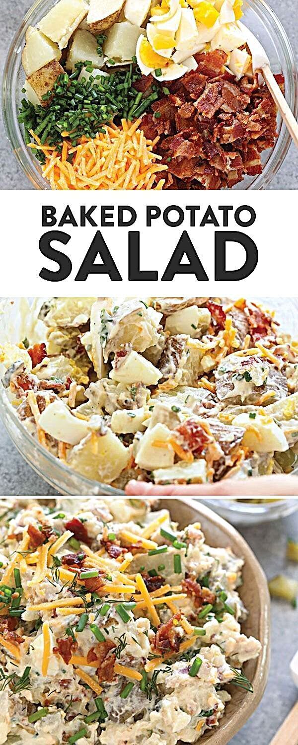 Baked Potato Salad - Fit Foodie Finds