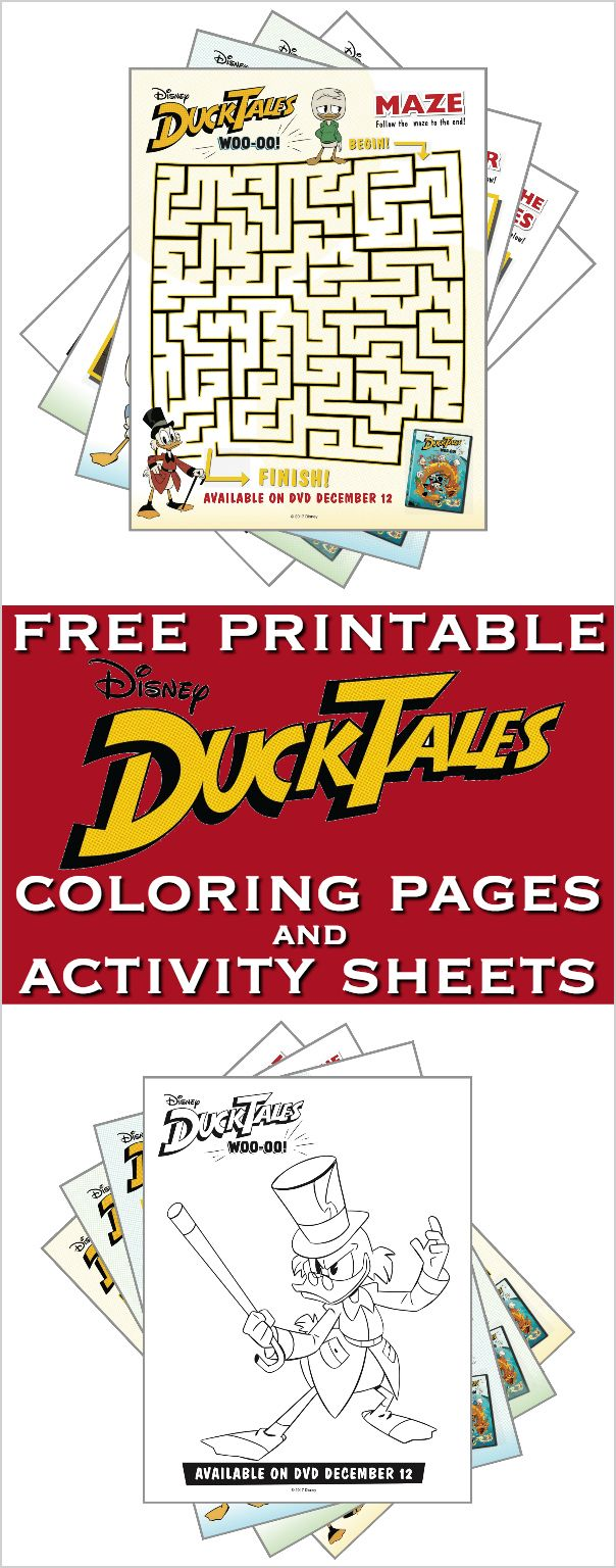 Free Printable DuckTales Coloring Pages and Activity Sheets ...
