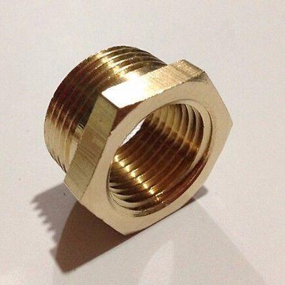 1//4BSP Female Threaded 3 Ways Cross Coupler Adapter Pipe Fitting Brass Tone