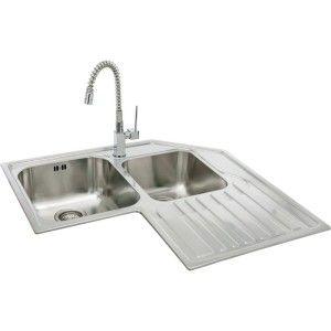 Corner Kitchen Sink Designs Carron Phoenix Lavella Double Basin Sink Corner Sink Kitchen Corner Sink Kitchen Sink Design