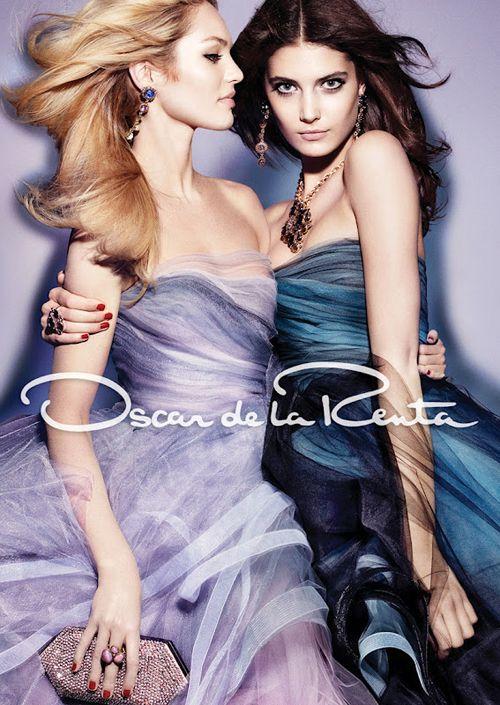 aintyourforte:  Candice Swanepoel & Katryn Kruger | Craig McDean | Oscar de la Renta Fall 2012