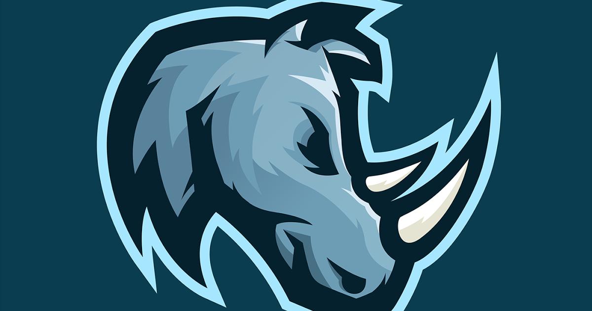 26 Gambar Logo Squad Keren Polos Hd Rhino Mascot Logo On