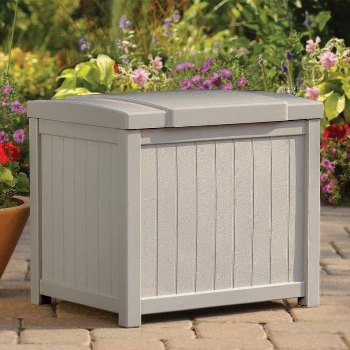 Suncast 22 Gallon Storage Box Outdoor Resin Deck Box Deck Box Storage Small Deck Box