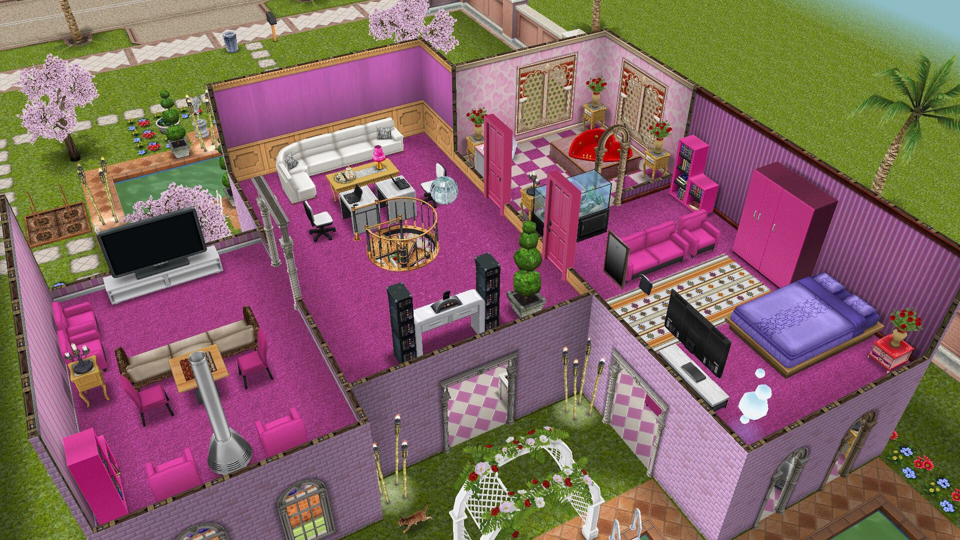 My Sims Free Play - Barbie\'s House: 2nd floor (4/5) | sims ...