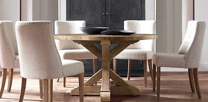 Salvaged Wood X Base Table Restoration Hardware Wood Furniture