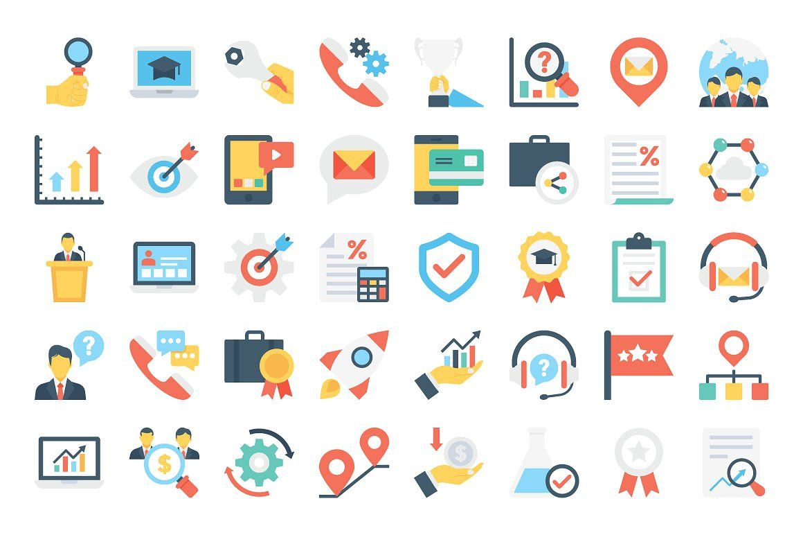 370 Flat Business Icons Business Icon Custom Icons Icon