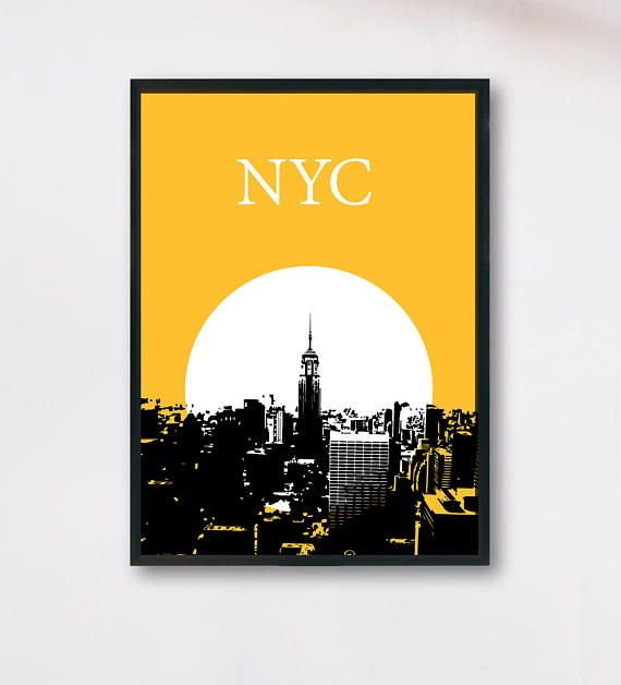 NYC Poster New York Printable NYC wall art ny skyline | Decorative ...