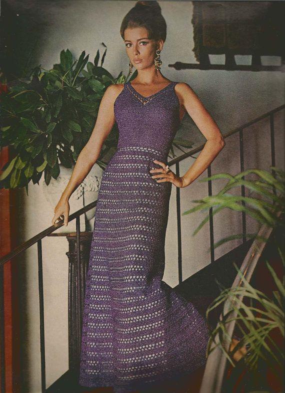 After Dark Crochet Dress pattern MS71 by suerock on Etsy, $4.25 | Oh ...