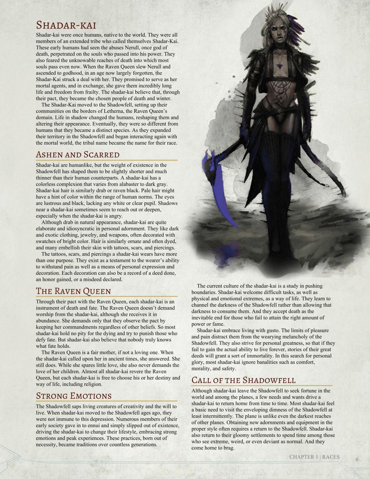 Shadar Kai 5e : shadar, Homebrew, Material, Edition, Dungeons, Dragons, Communi…, Homebrew,, Races,, Classes