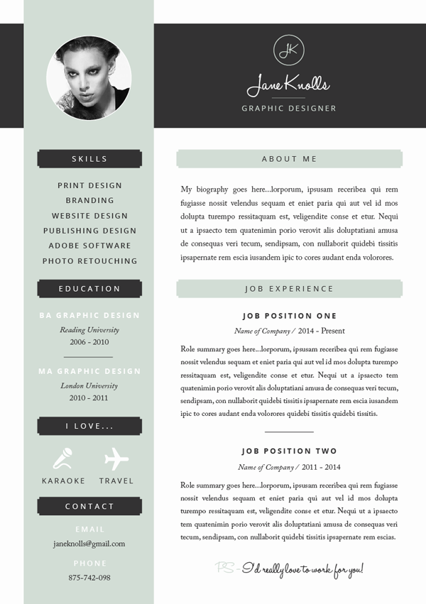 Resume Template  Cv Template    Template And Cv Template