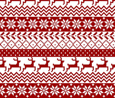 Christmas Fair Isle fabric by littlepeanutthreads on Spoonflower ...