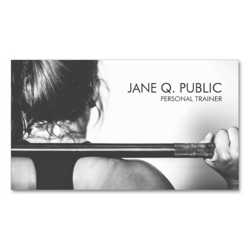 Photo of Black and White Personal Trainer Fitness Training Business Card | Zazzle.com