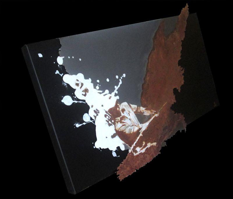 Olivier de Géa art - Acrylic and rust on metal