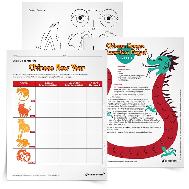 Download And Print These Chinese New Year Activities For Elementary